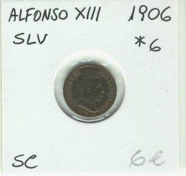 1 Centimo 1906*6 SLV