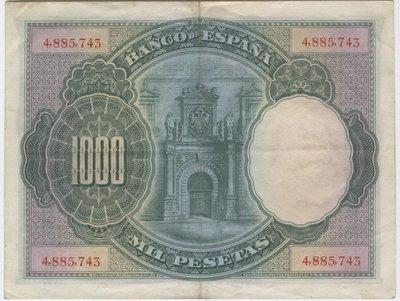 1 Julio 1925. Banco de España. Madrid 1000 Ptas