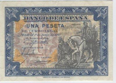 1 Junio 1940. Banco de España. 1 Peseta