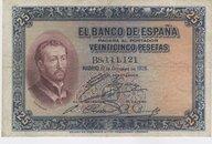 12 Octubre 1926. Banco de España. 25 Pesetas
