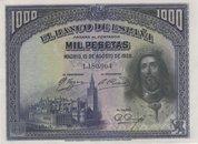 15 Agosto 1928. Banco de España. 1000 Pesetas