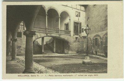 Mallorca Patio Barroco Mallorquin 1ª Mitad Siglo XVIII